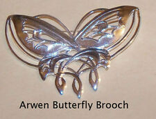 Lord of the Rings The Arwen Butterfly Brooch Silverplated
