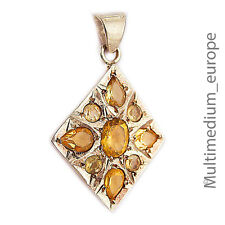 Silber Anhänger Stern Citrin Champagnerfarben silver pendant citrine yellow