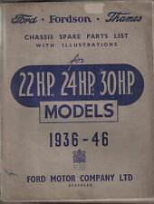 Ford Fordson Thames 22 24 30 HP 1936-1946 original illustrated Spare Parts List