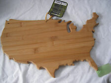 United States Shaped Bamboo Cutting Board