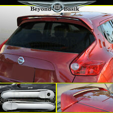Fits 11-17 Juke Spoiler+Chrome Door Handle Covers w/out Smart Key