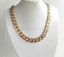 fashion1uk Mens Chunky Heavy Chain 18K Gold Plated 23.5 inches 60cm 105g