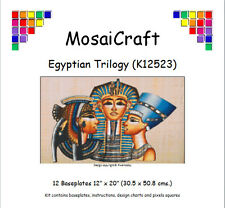MosaiCraft Pixel Craft Mosaic Kit 'Egyptian Trilogy' (Incl. Dove Tail Clips)