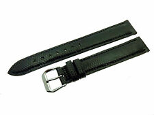 # L358 # FORTIS SWISS MADE UHRENARMBAND LEDER BRACELET LEATHER 16/14 MM SCHWARZ