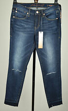 Jag Jeans Womens Blue Sleet Knee Released Hem Mid Rise Slim Ankle Jeans 4