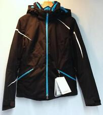 Spyder Women's Pandora Snow Ski Winter Jacket Black White Riviera Blue 12 New