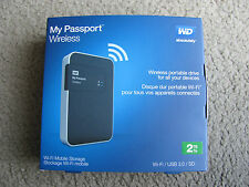 New WD My Passport Wireless 2TB Portable External Hard Drive WDBDAF0020BBK-
