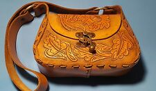 Hand Tooled American Leather Poppy Floral Purse Handbag