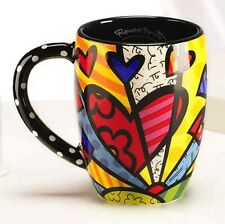 ROMERO BRITTO ROUND A NEW DAY  MUG 12 oz   ** NEW **