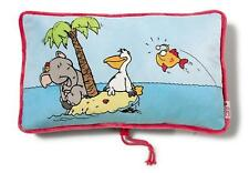 Nici 36618 Travel pillow Elephant Lantern fish,printed,rectangular,43 x 25 cm