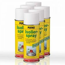 6 x Pufas Isolier-Spray 400ml Isoliergrund Absperrgrund Isolierspray