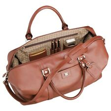 Cutter & Buck Genuine Chestnut Leather Weekender Travel Duffel Bag NEW Carry On