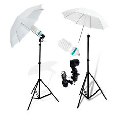 Photo Studio Continuous Lighting One Umbrella Light Lamp Photography Stand Kit