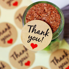 """Thank You"" Craft Kraft Sticker Labels Wedding Toppers Packaging Seals Stickers"