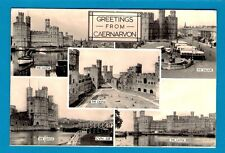 Bus Postcard - Greetings from Caernarvon - Buses in the Square - Friths Series