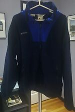 D) Men's Columbia Sportswear Company Fleece Navy Blue Size Large Jacket
