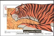 Macau 1998 YO Tiger/Animals/Nature/Zodiac/Fortune/Greetings GOLD o/p 1v m/s b502