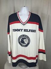 Rare VTG 90's Tommy Hilfiger Athletics Long Sleeve Hockey Jersey #99 Size 2XL