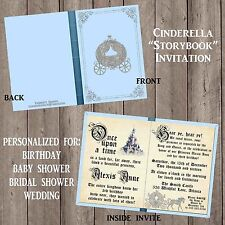Cinderella Storybook Invitation Any Occasion Personalized Princess