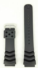 Seiko Diver Black Rubber Strap 22mm 7S26 7020 SKX171 SDS099 Watchband 7002 7029