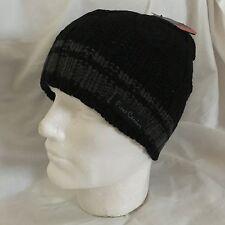 Pierre Cardin Men's Black Cable Knit Beanie BNWT l Designer Paris Cap Free P& P