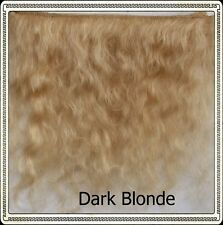 "Mohair Weft DARK BLONDE,  5"" - 6"" X 36""   Ideal for Reborn dolls"