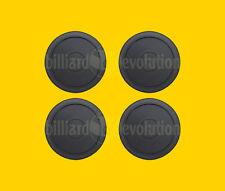 "Set of 4 Air Hockey Pucks - Black Round Pucks 2-1/2"" Diameter-Table Hockey Pucks"