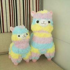Cute Alpaca Vicugna Pacos Arpakasso Alpacasso Soft Plush Doll Toy Rainbow 14""