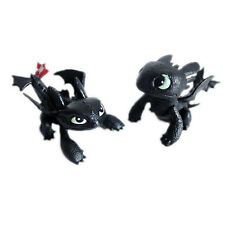 How To Train Your Dragon Toothless Mini Figure Kids Toys Dolls Gift Set 2pcs