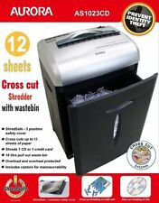 Cross Cut Paper Shredder Heavy Duty 12 Sheet Credit Card CD Office Electric Bin