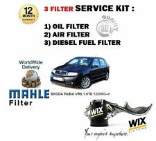 SKODA FABIA VRS 1.9 TD 130BHP  12/2003--  NEW  OIL AIR FUEL FILTER SERVICE KIT