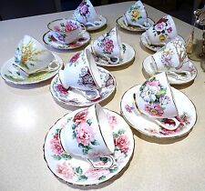 Vintage LOT of  10 sets of Tea Cups & Saucers * Royal Stafford, Staffordshire, +