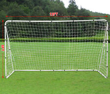 12' x 6' Soccer Goal With Net Strong Straps Anchor Large Soccer Goal Sports