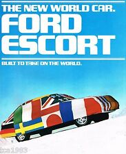 1981 Ford ESCORT Brochure/Catalog with Specifications: SS,GL,GLX,L