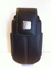 QUALITY BLACK LEATHER MOBILE PHONE SWIVEL HOLSTER CASE