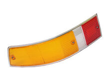 Porsche 911 912 Taillight Lens Left EURO Amber + Silver Trim tail rear lamp