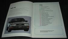 SSP 106 Audi V8 Typ D11 Selbststudienprogramm Konstruktion Funktion Stand 1988!
