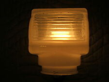 vintage white glass light shade sconce wall mount art deco mid century modern