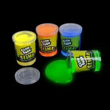 "Glow in The Dark Slime 3"" Party Pack of 12 Toy Birthday Favor Bag Gift Kids NEW"