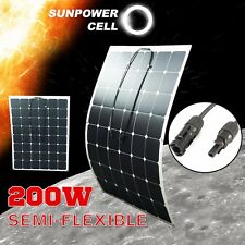 200W 18V Semi Flexible Solar Panel Battery Charger For RV Boat Caravan Motorhome