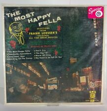 The Most Happy Fella Selections Frank Loesser Broadway Musical VG+ Vinyl RARE