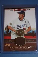 RARE Los Angeles Dodgers CLAYTON KERSHAW All Star Patch Card Topps Baseball 2011