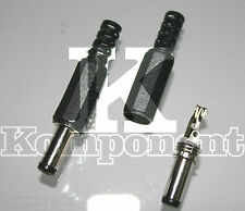 Connettore Jack Maschio 2,1 X 5,5 mm Presa Spina Power  Socket 2 Pezzi