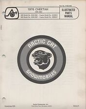 1976 ARCTIC CAT SNOWMOBILE CHEETAH 440, 500 P/N 0185-065 PARTS MANUAL (054)