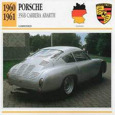 1960-1961 PORSCHE 356B Carrera Abarth Racing Classic Car Photo/Info Maxi Card