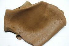 Italian thick Lambskin leather hides skin skins WASHED BUBBLE GRAINY CAMEL 5sqf