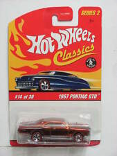 HOT WHEELS CLASSICS SERIES 2  #14/30 1967 PONTIAC GTO BRONZE