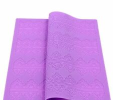 Lrge Silicone Lace Mat Mold for Edible Sugarcraft Lace, Embossed Cake, Fondant