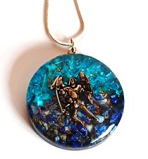 REIKI ENERGY CHARGED ARCHANGEL MICHAEL ORGONE CRYSTAL PENDANT & SILVER CHAIN UK