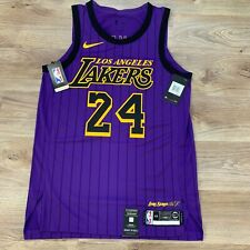 Nike Los Angeles Lakers 24 Kobe Bryant City Edition Men's Jersey ...